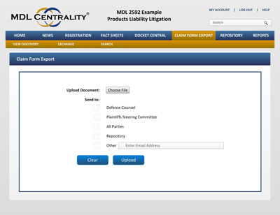 Mdl Centrality  Claim Form Export  Browngreer Plc